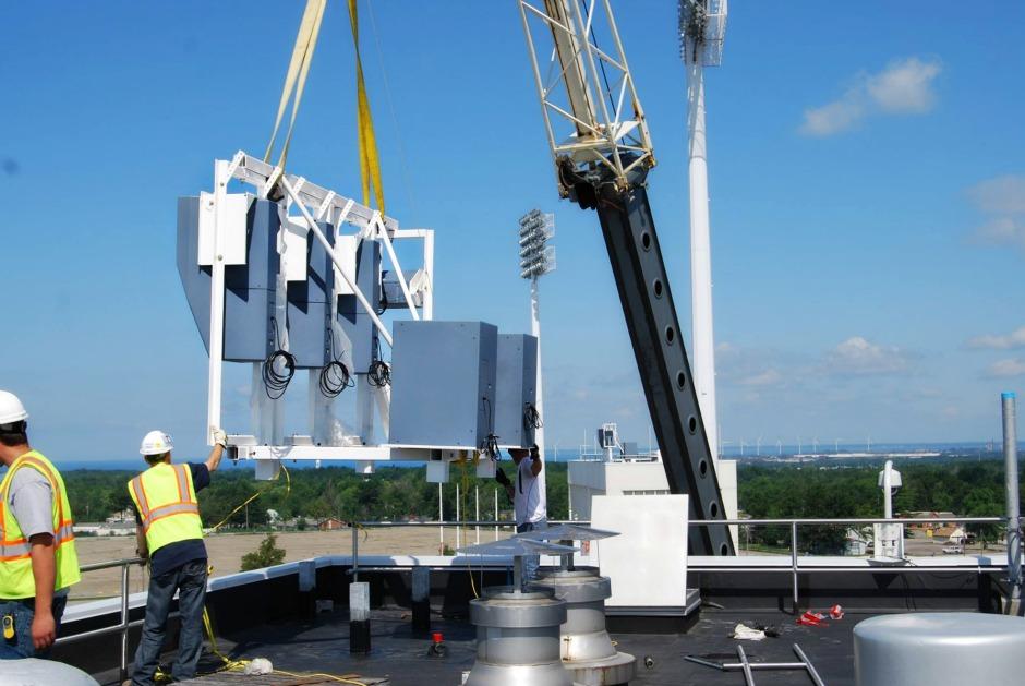 Polar Focus rigging for Danley Sound at Buffalo Bills Stadium