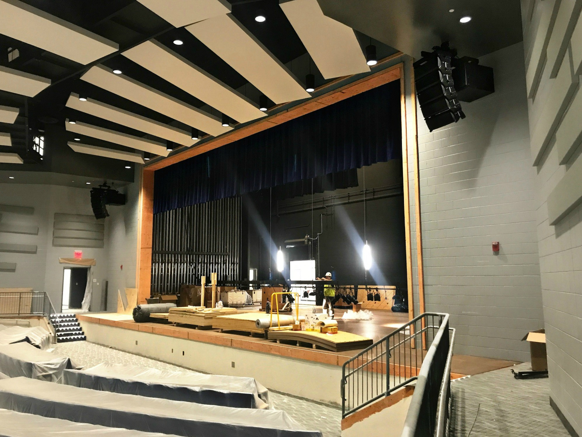 Polar Focus rigging for West Claremont HS