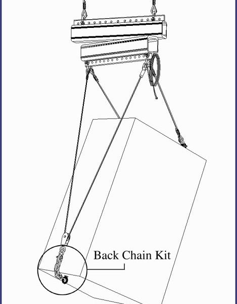 Polar Focus Back Chain Kit drawing