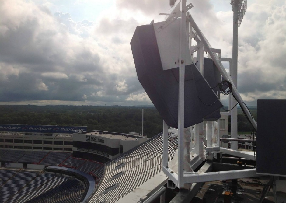 Polar Focus rigging for Danley Sound at Buffalo Bills Stadium