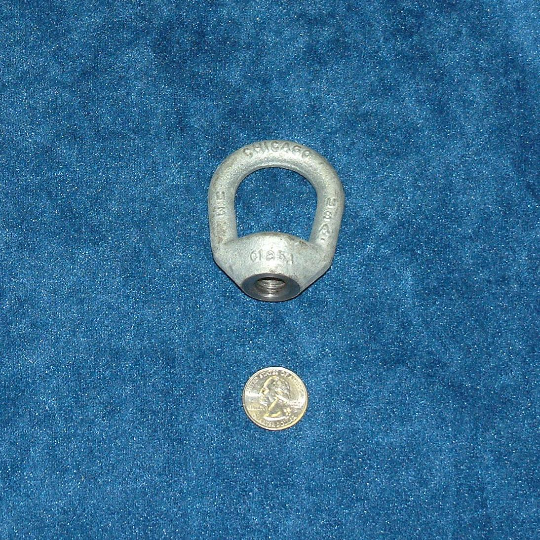 1/2 inch coarse thread tapped forged galvanized eye nut