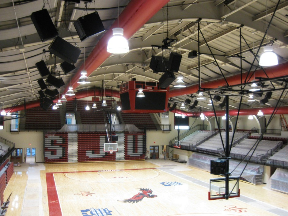 Polar Focus rigging for St. Joseph University