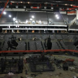 Polar Focus custom loudspeaker rigging products for EAW at Barclays Center