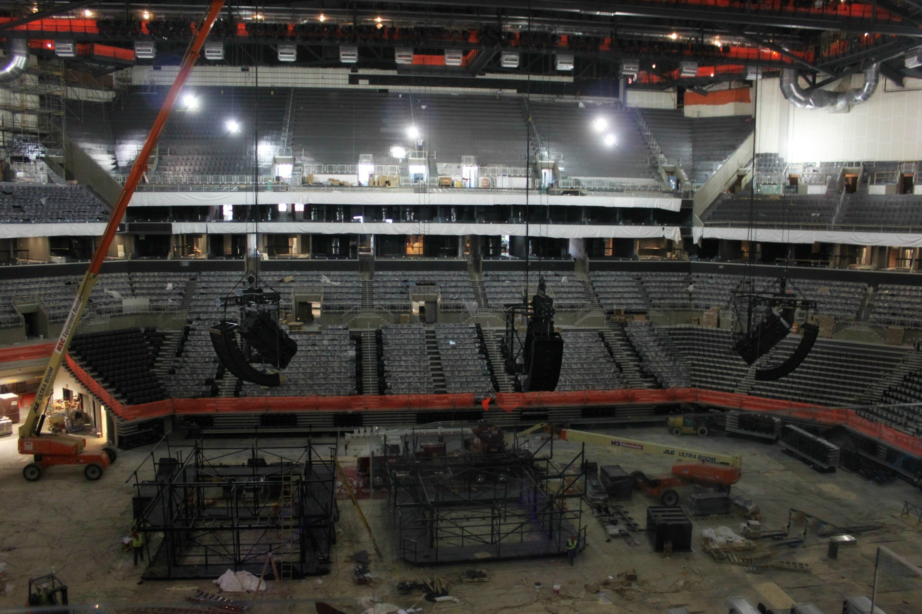Polar Focus rigging for Barclays Center