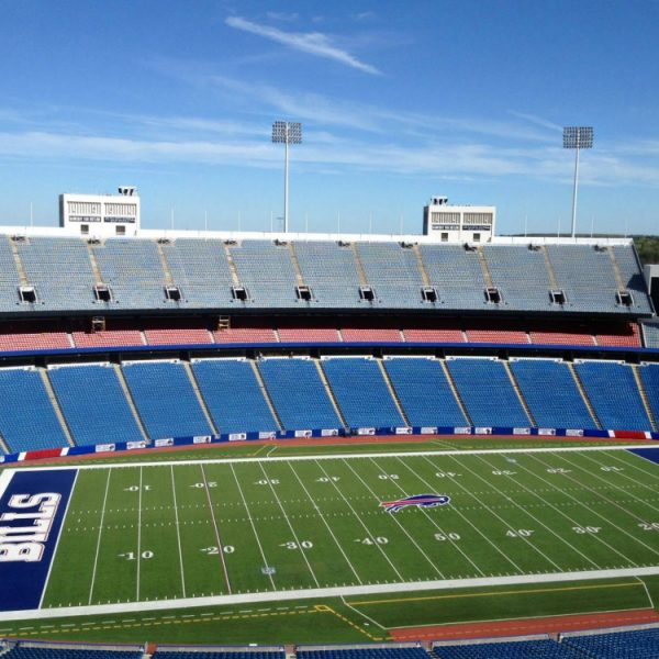 Polar Focus audio rigging for Danley Sound Labs loudspeakers at Buffalo Bills Stadium