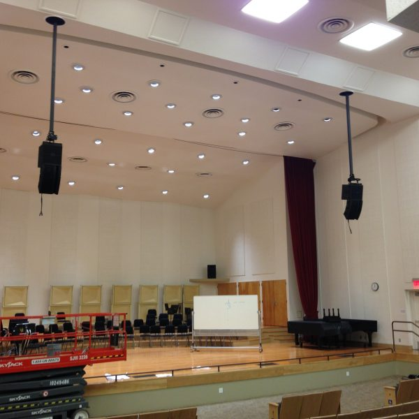 Polar Focus Stem for loudspeaker rigging at Humboldt University