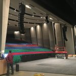 Polar Focus rigging for Des Moines Performing Arts