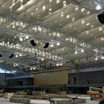 Polar Focus rigging for Bose Roommatch at Virginia Military Institute